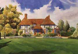 Tim Rose Artist impressions architectural perspectives House portrait of a home in the south of England